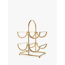 Buy John Lewis Metal Wire Wine Rack, Gold, 4 Bottles Online at johnlewis.com