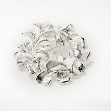 Buy John Lewis Clover Wreath Swirl Brooch, Silver Online at johnlewis.com