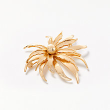 Buy John Lewis Vintage Leaf Brooch, Gold Online at johnlewis.com