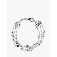 Buy Links of London Sterling Silver Beaded Chain 3 Row Bracelet, Silver Online at johnlewis.com