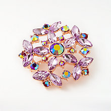 Buy John Lewis Floral Wreath Brooch, Purple/Rose Gold Online at johnlewis.com