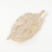 Buy John Lewis JL416 Enamel Leaf Brooch, Gold Online at johnlewis.com