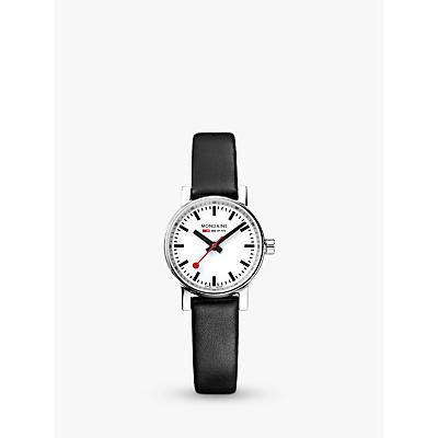 Mondaine Unisex Evo 2 Leather Strap Watch