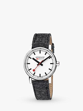 Mondaine MSE.35110.LH Unisex Evo 2 Fabric Strap Watch, Grey/White