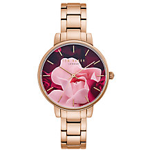 Buy Ted Baker TE50005001 Women's Exclusive Bracelet Strap Watch, Rose Gold/Multi Online at johnlewis.com