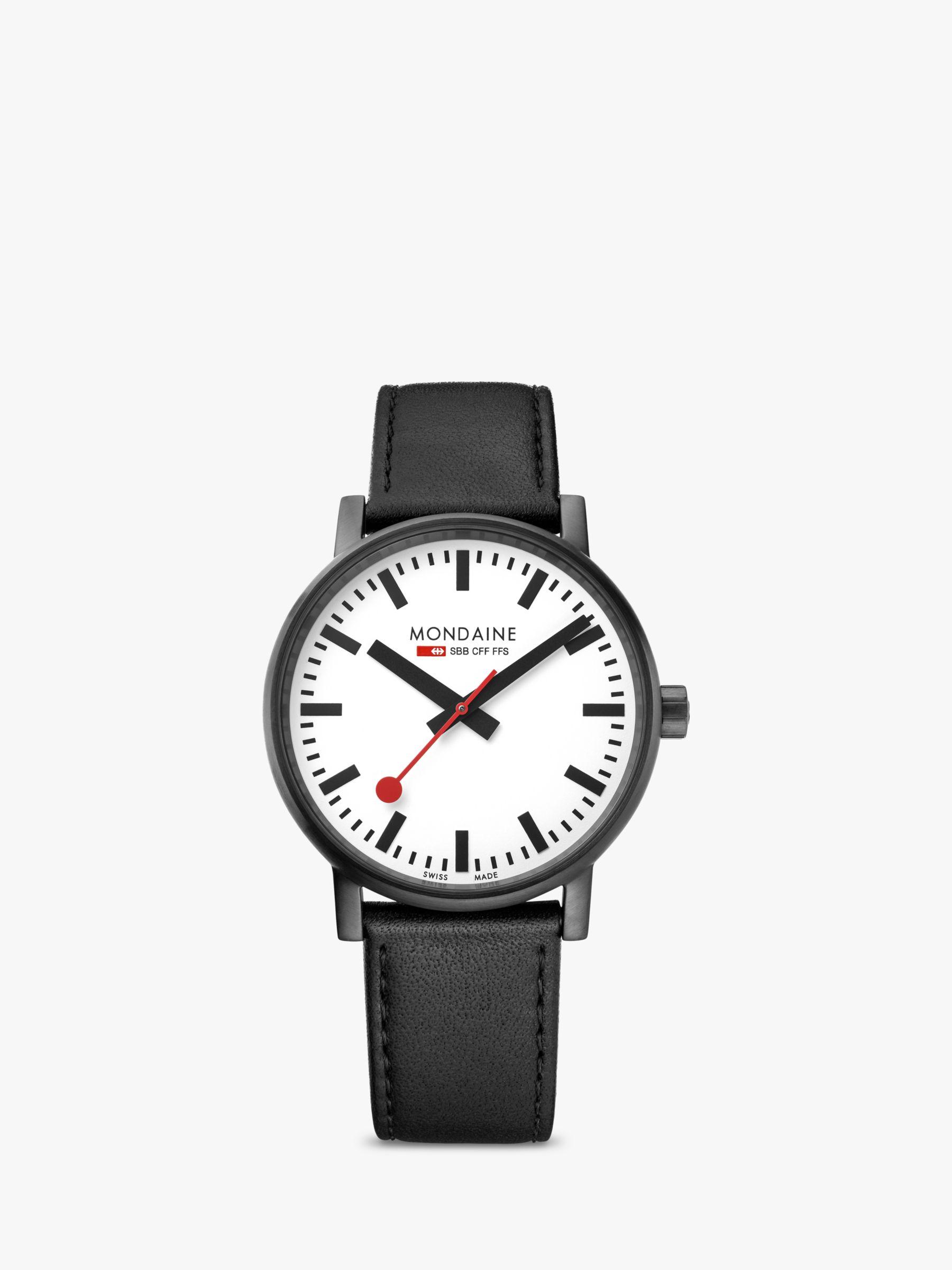 Mondaine Mondaine Unisex Evo 2 Leather Strap Watch