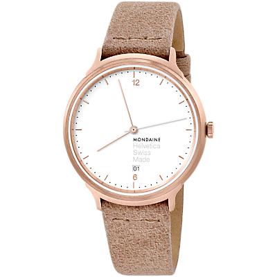 Mondaine Helvetica Women's Leather Strap Watch