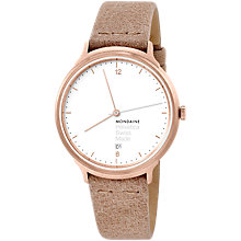 Buy Mondaine Helvetica Women's Leather Strap Watch Online at johnlewis.com