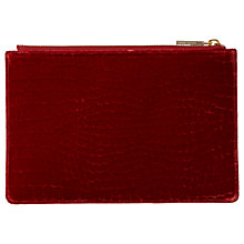 Buy Whistles Velvet Croc Small Clutch Bag, Cinnamon Online at johnlewis.com