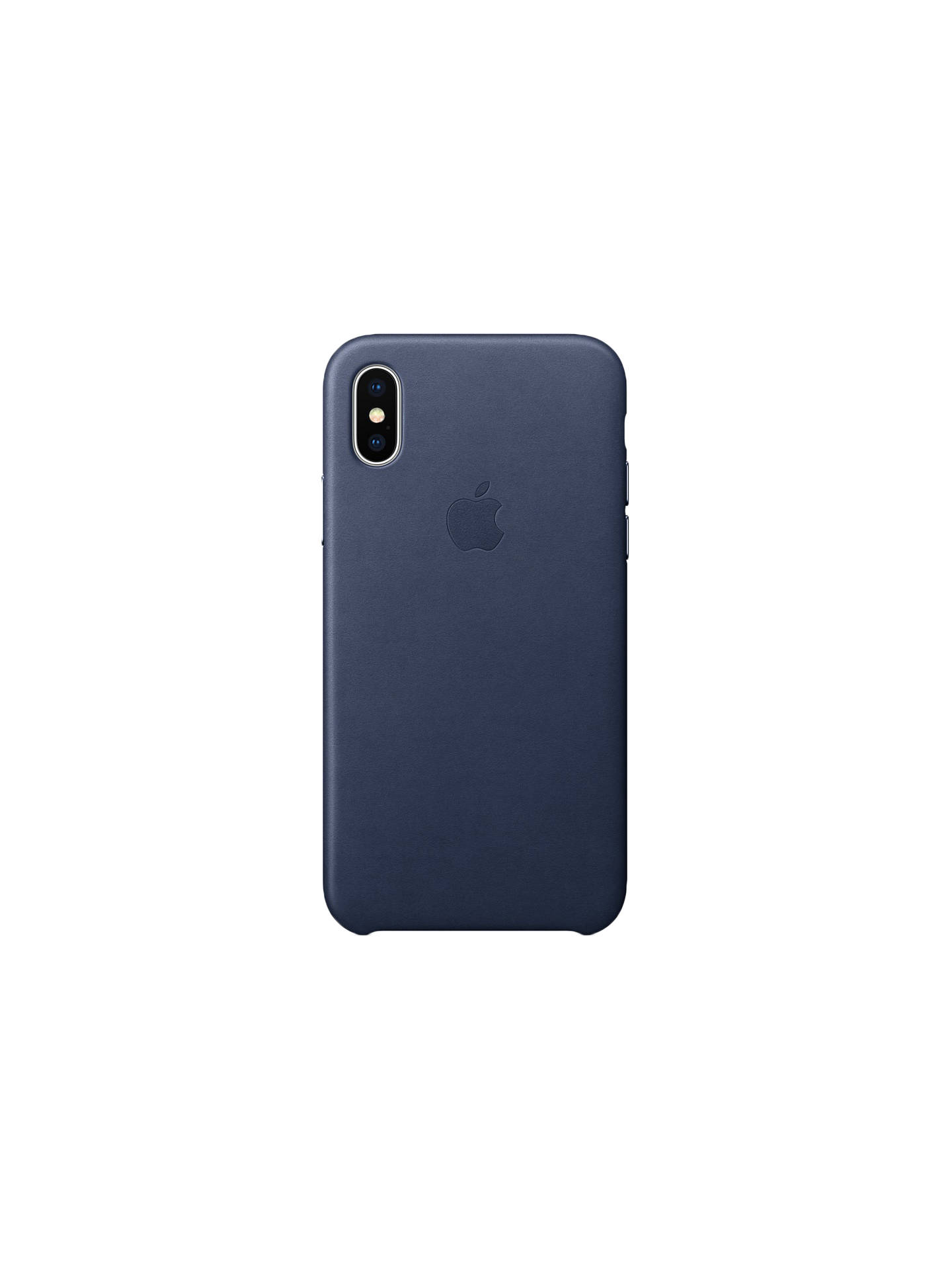 separation shoes a779b dc633 Apple Leather Case for iPhone X, Midnight Blue