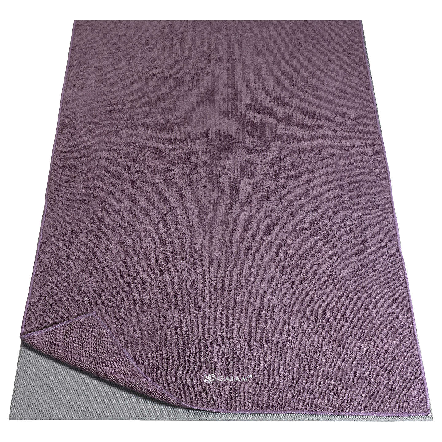 BuyGaiam Thirsty Yoga Towel, Purple Online at johnlewis.com