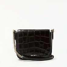 Buy DKNY Sutton Croc Effect Leather Small Saddle Bag Online at johnlewis.com
