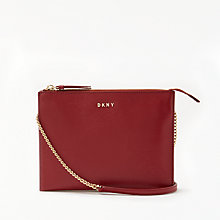 Buy DKNY Sutton Textured Leather Flat Zip Cross Body Bag Online at johnlewis.com