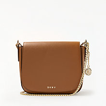 Buy DKNY Sutton Textured Leather Medium Saddle Bag Online at johnlewis.com
