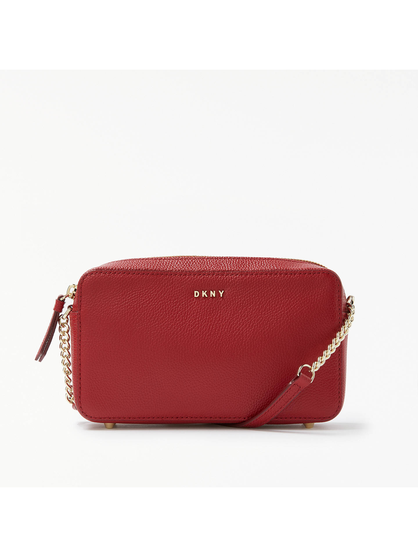 e8091644f9c BuyDKNY Chelsea Pebbled Leather Cross Body Bag, Scarlet Red Online at  johnlewis.com ...