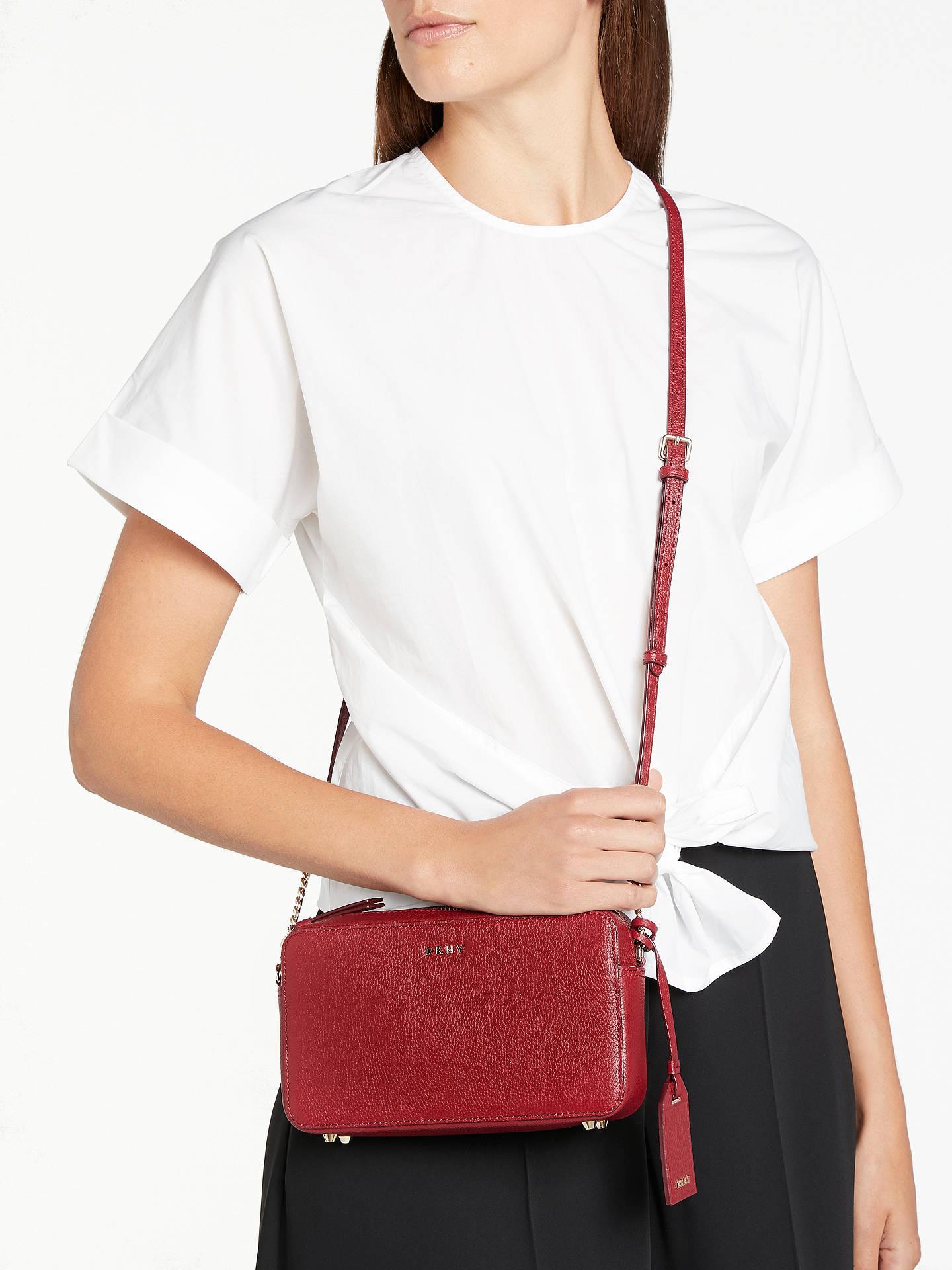 2d7105f36ea ... BuyDKNY Chelsea Pebbled Leather Cross Body Bag, Scarlet Red Online at  johnlewis.com ...