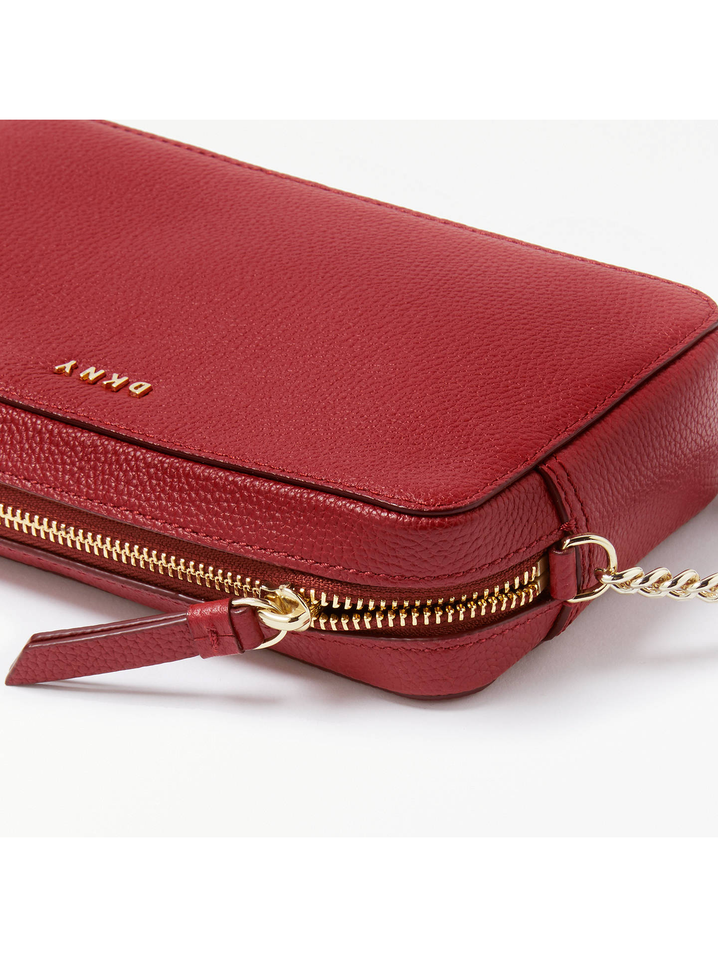 b0640f997d6 ... BuyDKNY Chelsea Pebbled Leather Cross Body Bag, Scarlet Red Online at  johnlewis.com