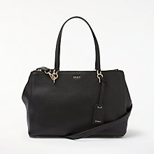 Buy DKNY Chelsea Pebbled Leather Large Shopper Bag, Black Online at johnlewis.com