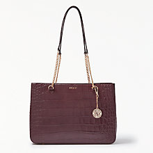 Buy DKNY Sutton Croc Effect Leather Shopper Bag Online at johnlewis.com