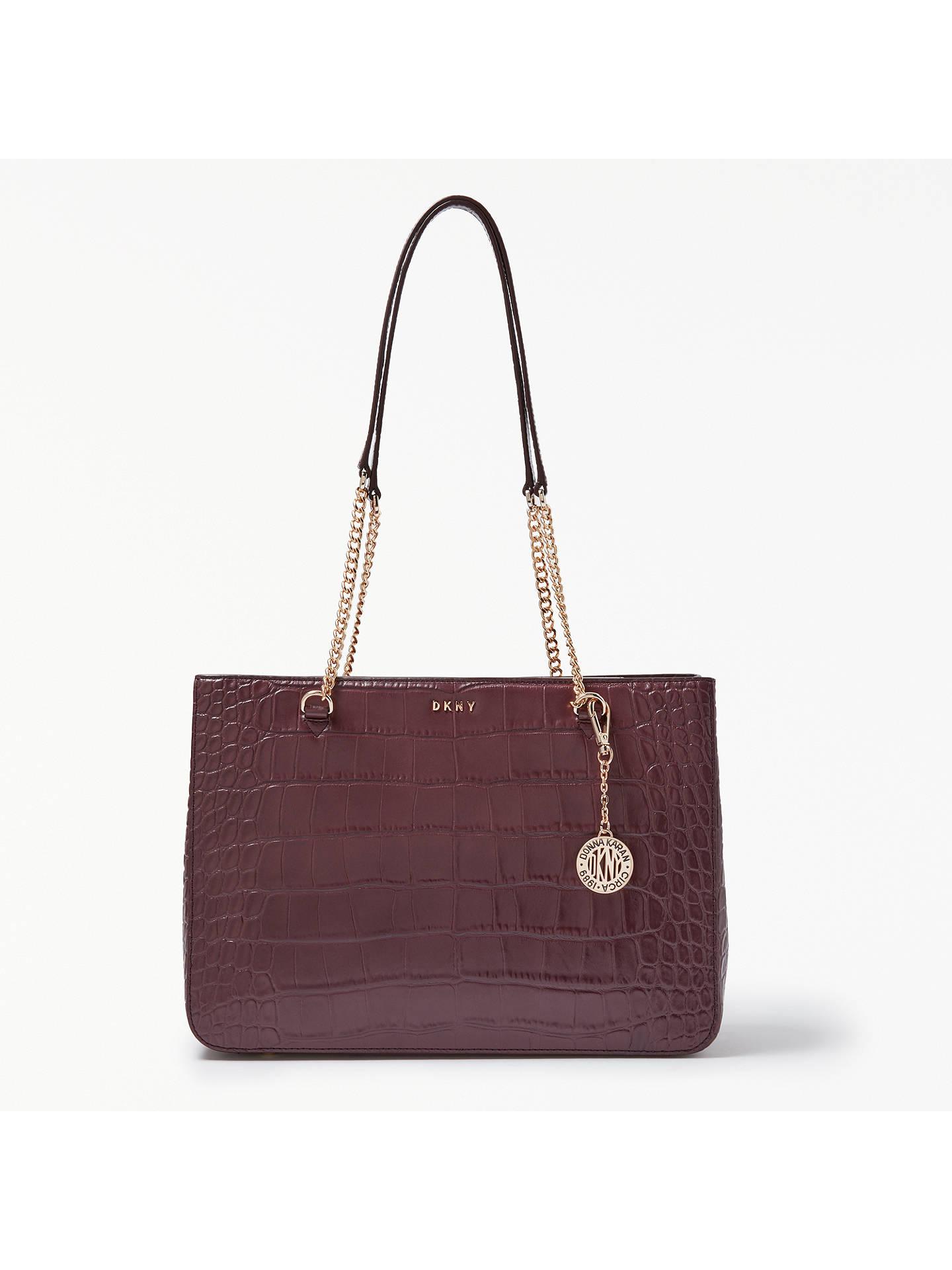 ff21366827 DKNY Sutton Croc Effect Leather Shopper Bag at John Lewis   Partners
