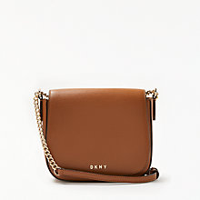 Buy DKNY Sutton Textured Leather Small Saddle Bag Online at johnlewis.com