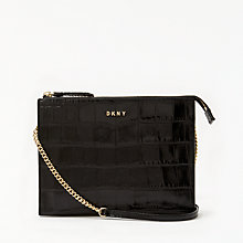 Buy DKNY Sutton Croc Effect Leather Zip Cross Body Bag Online at johnlewis.com