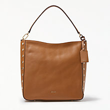 Buy DKNY Chelsea Pebbled Leather Studded Hobo Bag Online at johnlewis.com