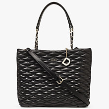 Buy DKNY Nappa Leather Quilted Large Shopper Bag, Black Online at johnlewis.com