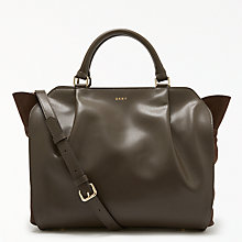 Buy DKNY Calf Suede Medium Gusseted Satchel Bag Online at johnlewis.com