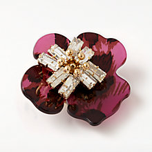 Buy John Lewis Abstract Flower Glass Brooch, Magenta/Gold Online at johnlewis.com