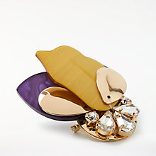 Buy John Lewis Abstract Brooch, Purple/Yellow Online at johnlewis.com