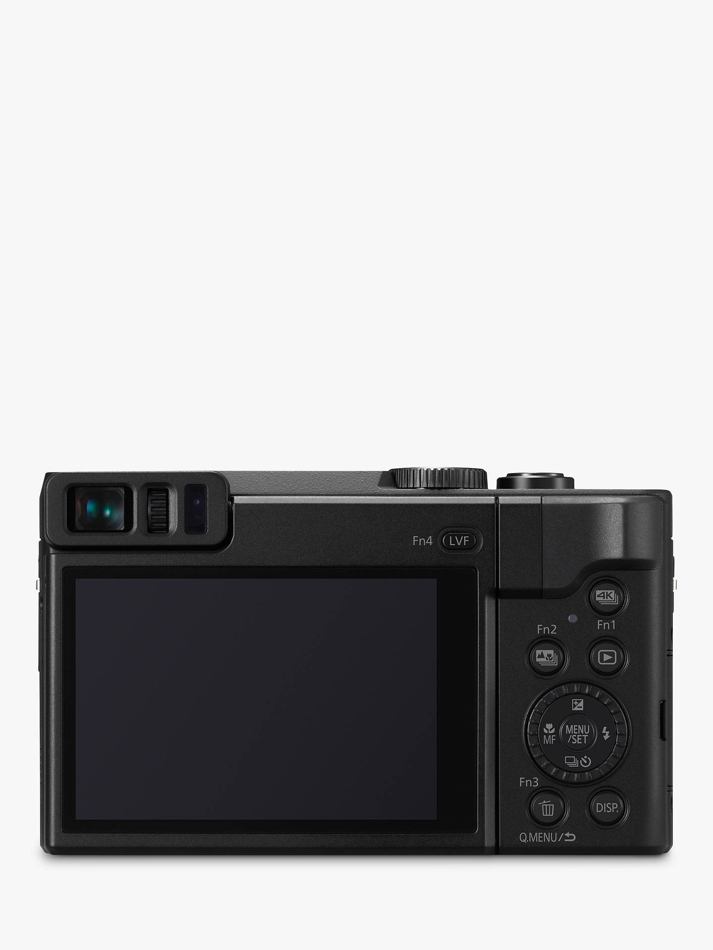 "Buy Panasonic Lumix DC-TZ90 Super Zoom Digital Camera, 4K Ultra HD, 20.3MP, 30x Optical Zoom, Wi-Fi, EVF, 3"" LCD Tiltable Touch Screen, Black Online at johnlewis.com"
