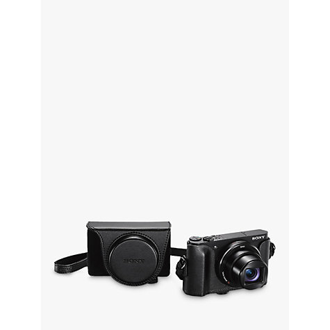 "Buy Sony Cyber-Shot WX500 Camera, HD 1080p, 18.2MP, 30x Optical Zoom, Wi-Fi, NFC, 3"" Vari Angle LCD Screen with Jacket Camera Case Online at johnlewis.com"