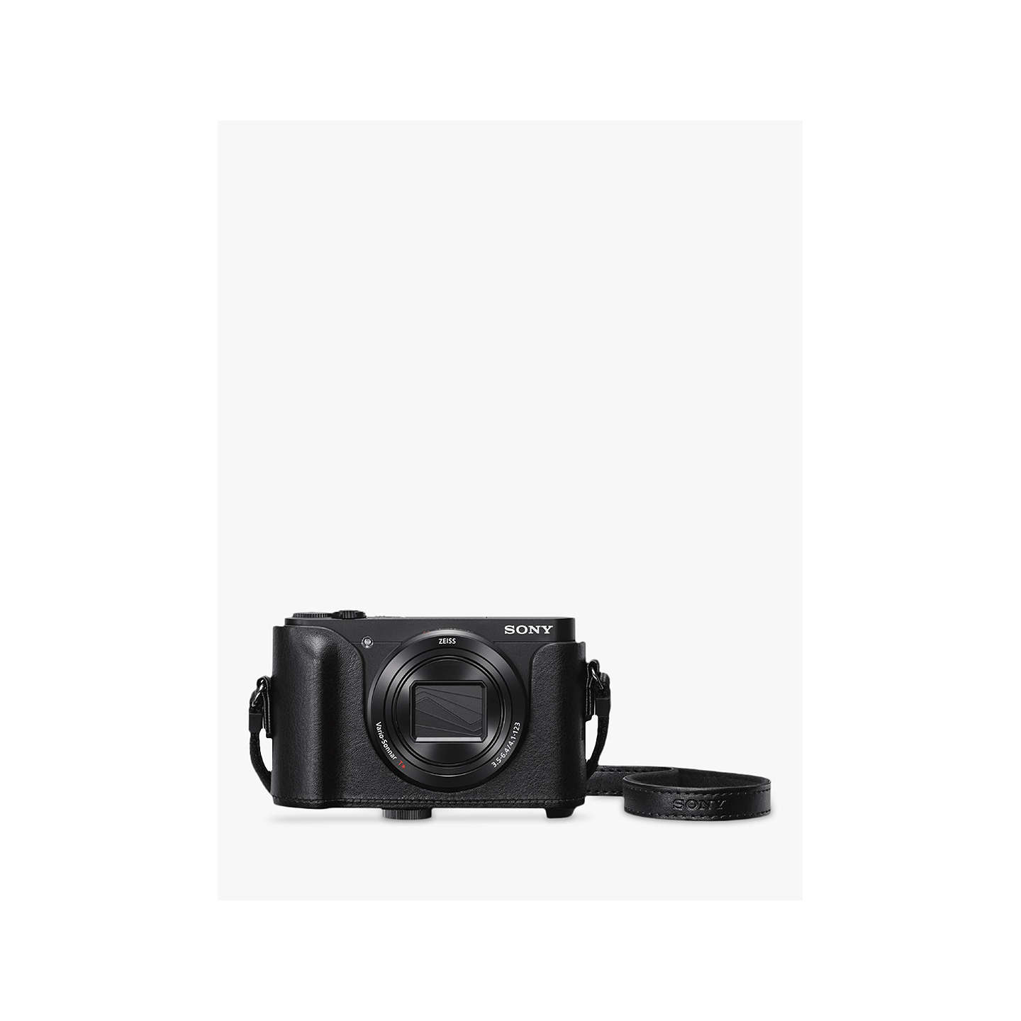 "BuySony Cyber-Shot WX500 Camera, HD 1080p, 18.2MP, 30x Optical Zoom, Wi-Fi, NFC, 3"" Vari Angle LCD Screen, Black, with Jacket Camera Case Online at johnlewis.com"