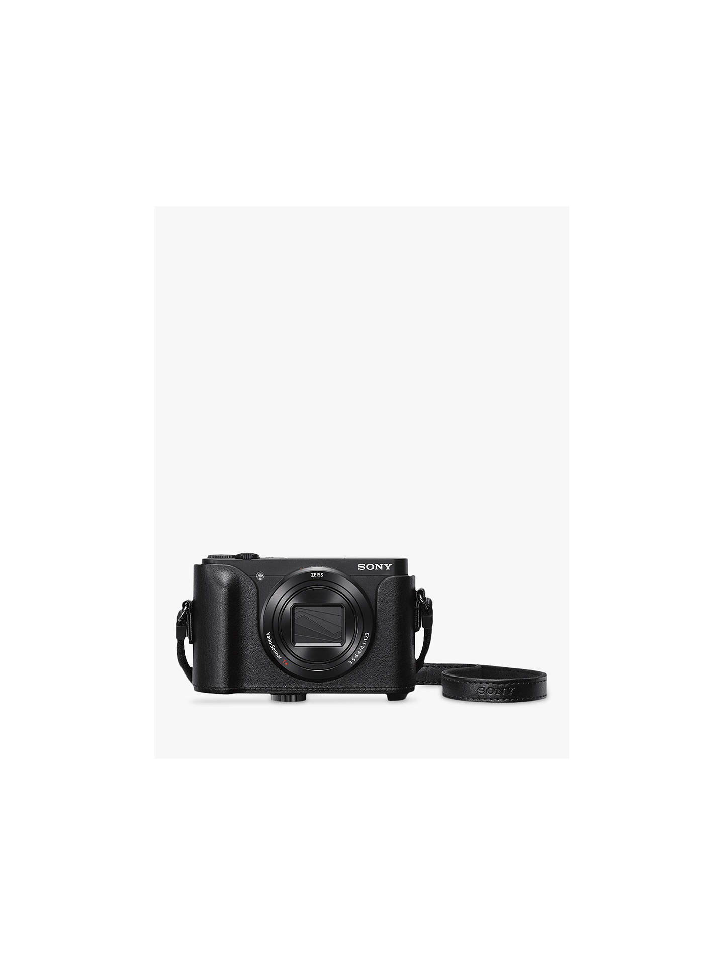 "Buy Sony Cyber-Shot WX500 Camera, HD 1080p, 18.2MP, 30x Optical Zoom, Wi-Fi, NFC, 3"" Vari Angle LCD Screen, Black, with Jacket Camera Case Online at johnlewis.com"