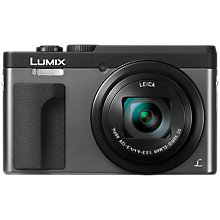 "Buy Panasonic Lumix DC-TZ90 Super Zoom Digital Camera, 4K Ultra HD, 20.3MP, 30x Optical Zoom, Wi-Fi, EVF, 3"" LCD Tiltable Touch Screen Online at johnlewis.com"