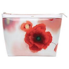 Buy Ted Baker Aarna Expressive Pansy Large Wash Bag, Mid Red Online at johnlewis.com