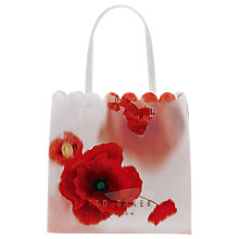 Buy Ted Baker Charcon Playful Poppy Large Icon Shopper Bag, Mid Red Online at johnlewis.com
