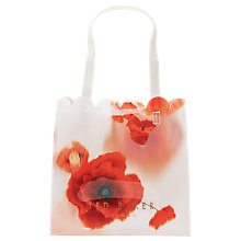Buy Ted Baker Melacon Playful Poppy Small Icon Shopper Bag, Mid Red Online at johnlewis.com
