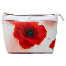 Buy Ted Baker Bernice Playful Poppy Makeup Bag, Mid Red Online at johnlewis.com