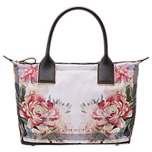 Buy Ted Baker Nisha Painted Posie Small Tote Bag, Baby Pink Online at johnlewis.com