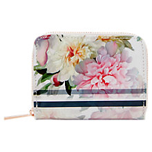 Buy Ted Baker Joan Painted Posie Mini Leather Coin Purse, Baby Pink Online at johnlewis.com