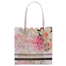Buy Ted Baker Mylacon Painted Posie Large Icon Shopper Bag, Baby Pink Online at johnlewis.com