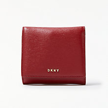 Buy DKNY Sutton Textured Leather Trifold Purse, Scarlet Red Online at johnlewis.com