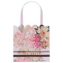 Buy Ted Baker	Amalcon Painted Posie Small Icon Shopper Bag, Baby Pink Online at johnlewis.com
