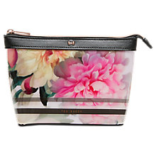 Buy Ted Baker Jamel Painted Posie Small Makeup Bag, Baby Pink Online at johnlewis.com