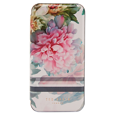 Image of Ted Baker June Painted Posie iPhone Mirror Case, Baby Pink