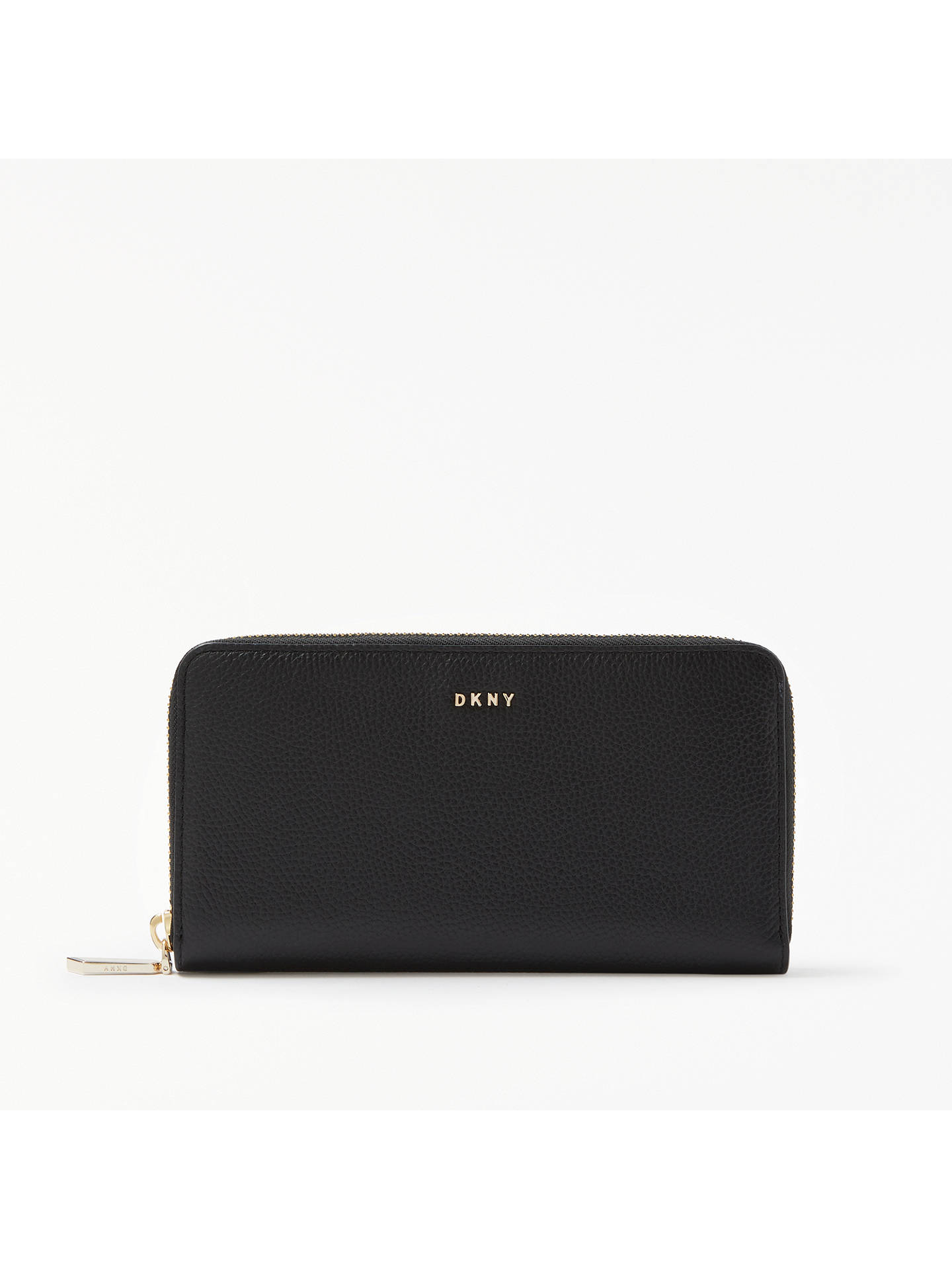 0ff9a2b4ec1 BuyDKNY Chelsea Pebbled Leather Large Zip Around Purse, Black Online at  johnlewis.com ...