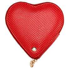 Buy Aspinal of London Leather Heart Coin Purse, Berry Red Online at johnlewis.com