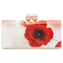 Buy Ted Baker Dolcie Playful Poppy Leather Matinee Purse, Mid Red Online at johnlewis.com